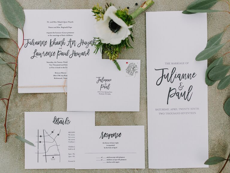 how important are wedding invitations flat lay