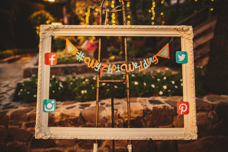 Social Media Photo Booth Frame Prop
