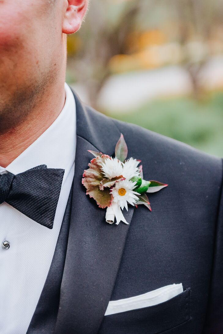 Groom with Bohemian Boutonniere