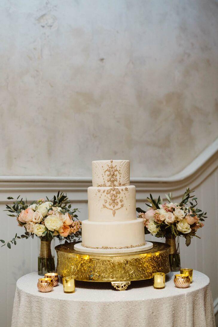 Bella Manse Art Deco Wedding Cake