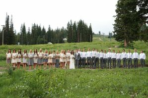 Large Neutral Wedding Party
