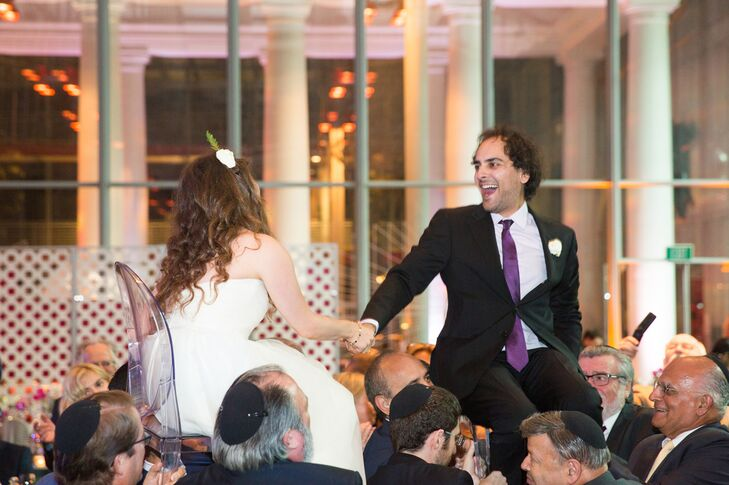 Kalya and Mike danced the hora at their reception at the California Academy of Sciences in San Francisco.