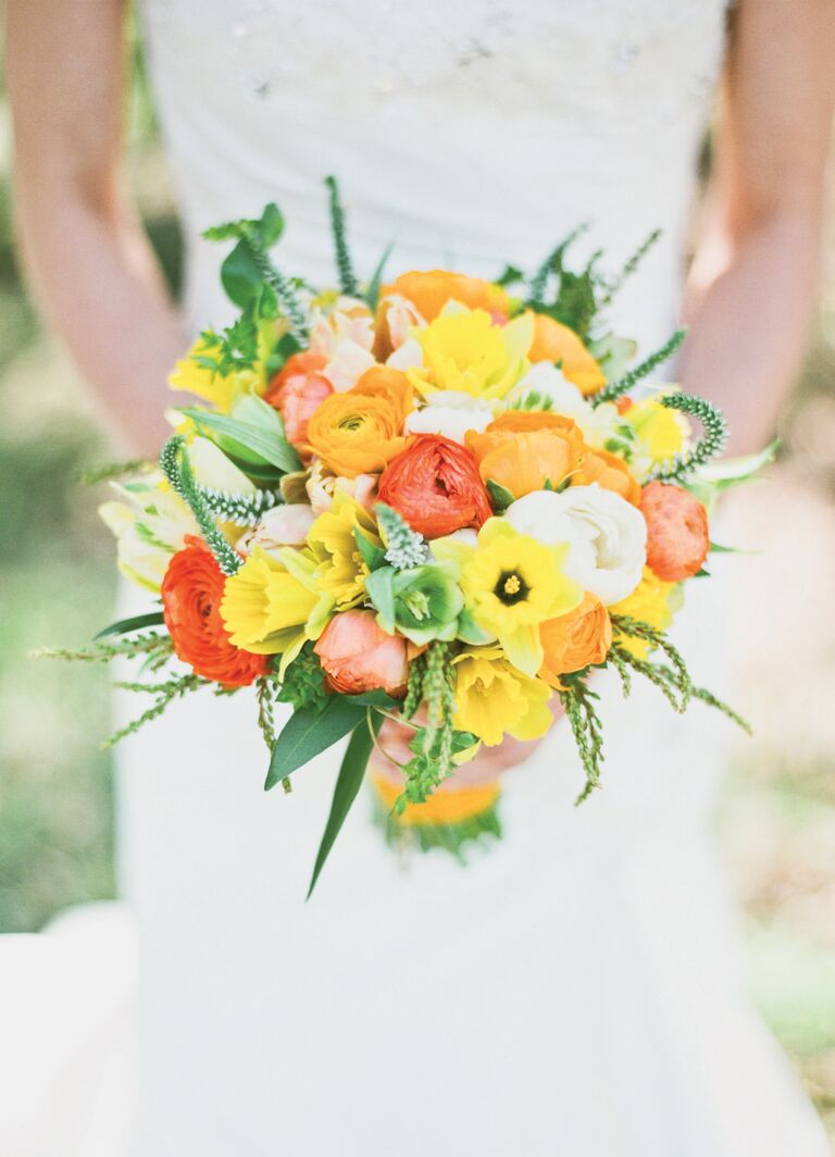 Top 13 wedding color and style mistakes not to make bright orange and yellow bridal bouquet mightylinksfo
