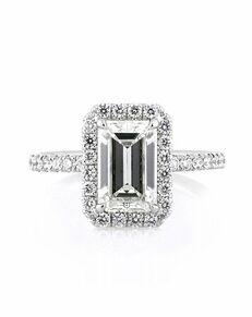 Mark Broumand Unique Emerald Cut Engagement Ring