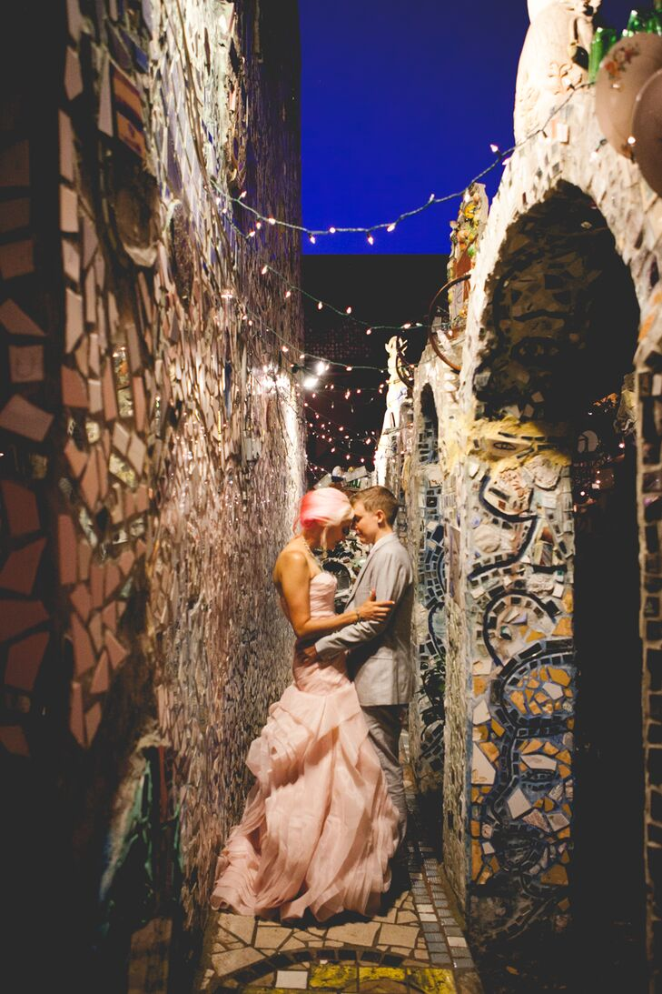 Married Couple in Mosaic Alleyway