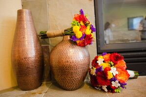 DIY Colorful Gerbera Daisy, Rose, Stephanotis Bouquets