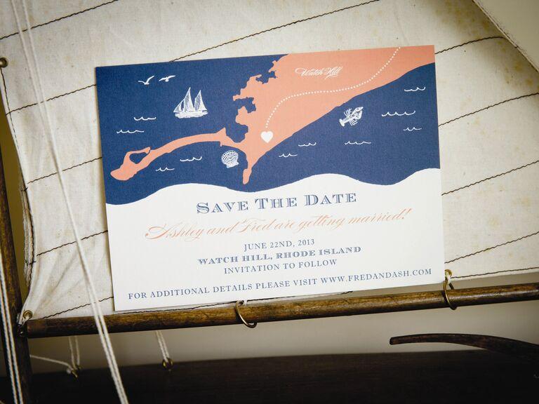 Nautical Destination Wedding Save The Date