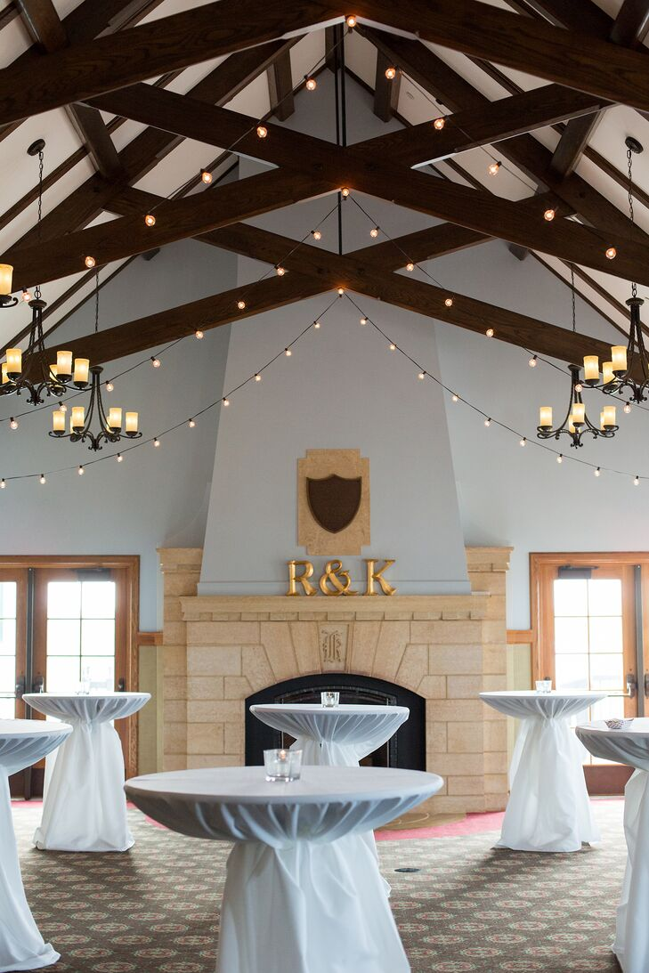 Katelyn and Ryan loved the loft-like feel of the reception hall's vaulted, beamed ceilings.