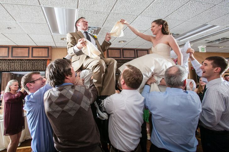 Jenny and Mark had a traditional Jewish hora chair dance at their reception.