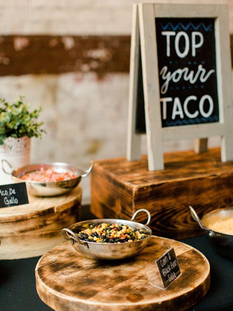 Vegetarian Wedding Menu Tacos
