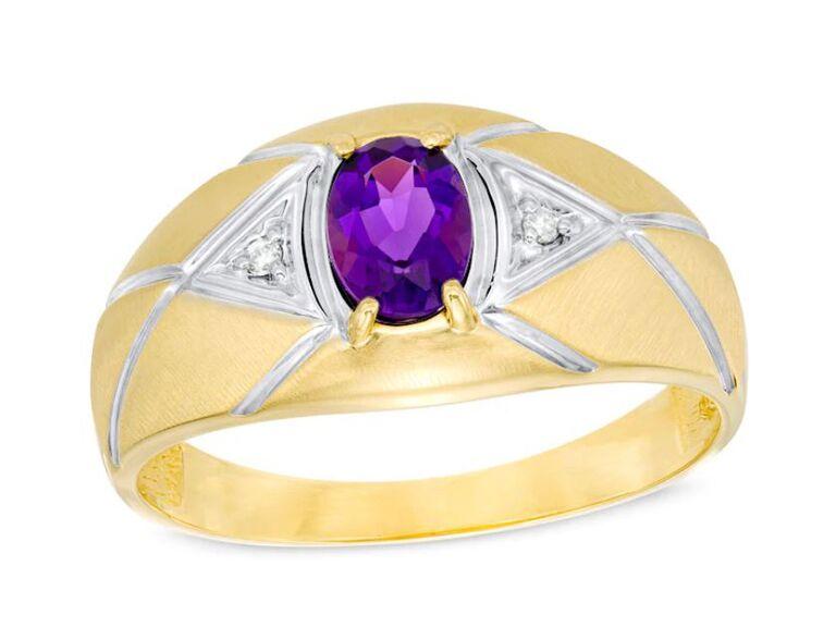 elegant amethyst engagement ring