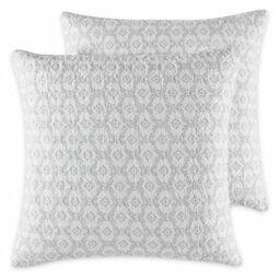 laura venetia european pillow shams in grey set