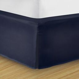 wraparound wonderskirt queen bed skirt in navy