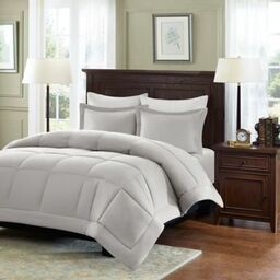 madison park microcell down alternative king comforter set in grey