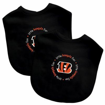 28543440c Baby Fanatic® NFL Cincinnati Bengals 2-Pack Bibs in Orange Black