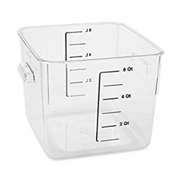 Rubbermaid Commercial Carb X E Saving Square Food Storage Container 6 Quart
