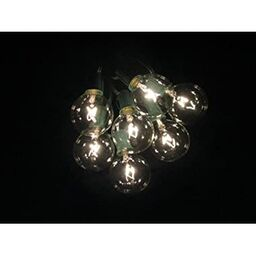 100 foot g50 patio globe string lights with 2 inch clear bulbs for outdoor string lighting