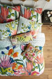 Lyndsay mitsopoulos nik mitsopoulos wedding registry lulie wallace floral quilt junglespirit Choice Image