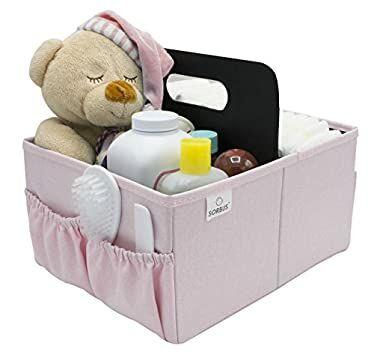 1b2eac8b0 Sorbus Baby Diaper Caddy Organizer | Nursery Storage Bin for Diapers, Wipes  & Toys | Portable Car Storage Basket | Changing Table Organizer | Great Baby  ...