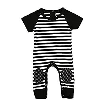 22196fd8b58a ABEE Newborn Infant Baby Boys Striped Romper Jumpsuit Bodysuit Warm Clothes  Outfits With Kneepad