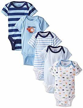 884d7f32c Gerber Baby-Boys 5 Pack Onesies, Transportation, 0-3 Months