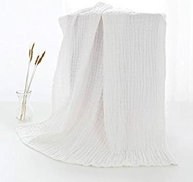 0f87753c424d Binztec Muslin Baby Bath Towel and Blanket for Newborn Infants,Medical  Grade Natural Antibacterial Cotton for Sensitive Skin,Rapid Absorption, ...