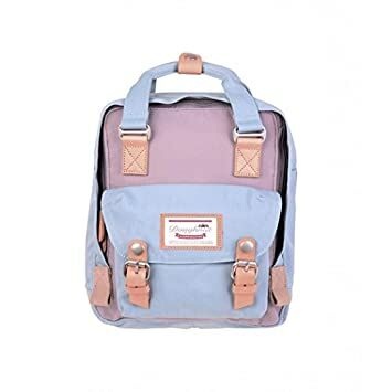 Doughnut Women s Mini Macaroon Backpack (One Size, Lilac Light Blue) f4f3a7ae31