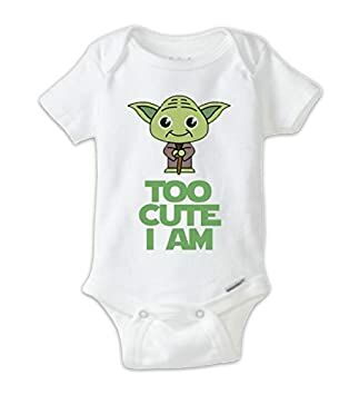 281a69750 STAR WARS Cute Yoda Baby Onesie, Baby Bodysuit, Yoda Onesie, Star Wars  Onesie, Star Wars Shirts, Funny Shirts, Cute Shirts, Baby Shower Gift (3-6  Months)