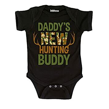 ab67e35bc Daddy's New Hunting Buddy, Camo Fill -Infant One Piece-6M