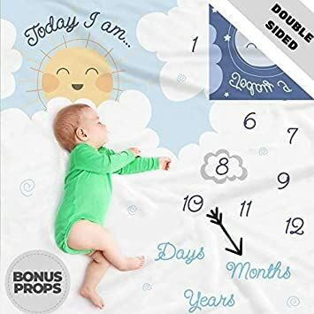 cf083623514 ... Baby Milestone Blanket- Month Blanket for Baby Pictures