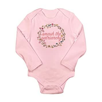 562f431f CafePress - Smash The Patriarchy - Cute Long Sleeve Infant Bodysuit Baby  Romper Petal Pink