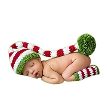46bd6d17ef6a MUTONG Newborn Baby Boy Girl Photography Props Outfits Knitted Christmas  Hat Boots