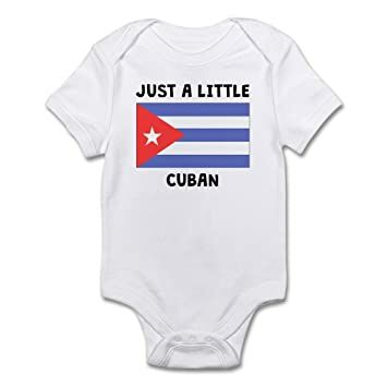7c5636084 CafePress Just A Little Cuban Body Suit Cute Infant Bodysuit Baby Romper  Cloud White