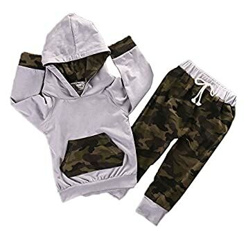 efd2e79eaacc6 Newborn Infant Baby Boy Girls Camouflage Clothes Hooded T-Shirt Tops+Pants  Outfits (0-6 Months)