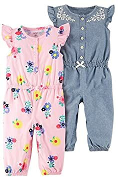 ... cheap for sale 40bcf fad2f Carters Baby Girls 2-Pack One Piece Romper c2a5b02b7