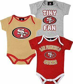 San Francisco 49ers 3pc Creeper Set Tiny Fan Infant Baby (6-9 Months) fe6ec2f52