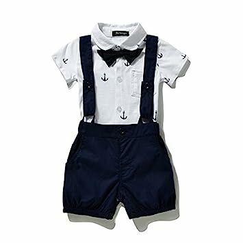 377ea6fbca13 FERENYI US Baby Boys Bowtie Gentleman Romper Jumpsuit Overalls Rompers (0-6  Months