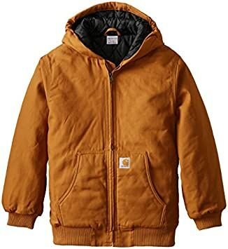 a3b6dc649 Carhartt Baby Boys' Active Quilted Flannel Lined Jacket, Brown, 24 Months