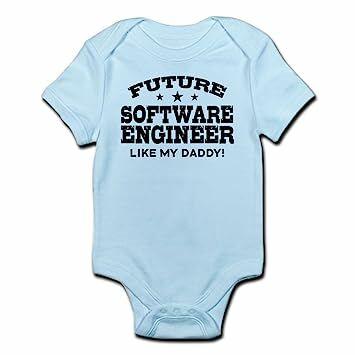 191f74179 CafePress Future Software Engineer Infant Bodysuit Cute Infant Bodysuit Baby  Romper Sky Blue