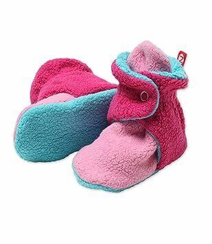 0457300e Zutano Newborn Unisex - Baby Fleece Bootie - Baby Fleece Bootie -  HOTPINK/FUCHSIA/POOL 3 Months