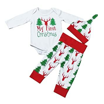newborn baby boy girl 3pcs christmas clothes set bodysuitp antshat infant outfitswhitered700 3 months