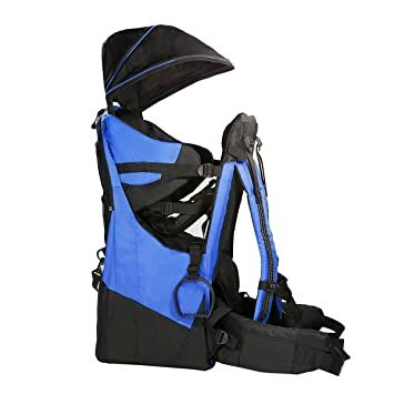 9badbe67e6fc Clevr Deluxe Baby Toddler Backpack Cross Country Lightweight Carrier with  Stand Child Kid Sun Shade Visor