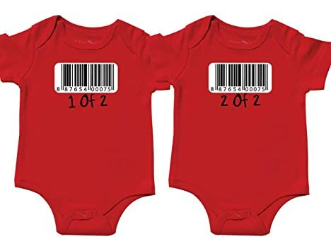 6fed9ed28 Bodysuit for Twin Girl and Boy, Includes 2 Bodysuits, 3-6 Month Barcode