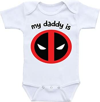 77ce9f18c Dazzle Labs My Daddy Is Deadpool Funny Baby Onesie Bodysuit (6-12 Months)