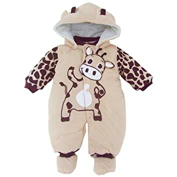 5a0ec63d4 Baby Girls Boys Animal Style Winter Rompers Playsuits Snowsuit (0-3 Months,  Beige)