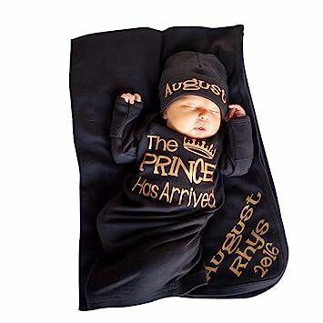 """99e405850 Ecurson Newborn Baby Boys"""" Prince Has Arrived"""