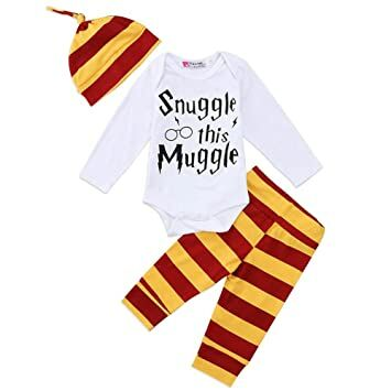 beae0a0aa 3Pcs/Set Infant Baby Boy Girl Snuggle this Muggle Rompers+Striped Pants+Hat  Take Home Outfits