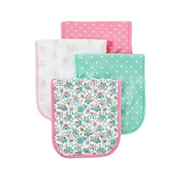 d509173d1 Carter's Just One You Baby Girls' 4 Pack Burp Cloth Set - Calla Lilly