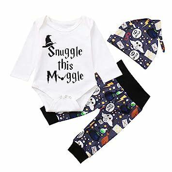 4800a6895 Hatoys Newborn Baby Boy Girl Letter Romper Jumpsuit Cartoon Long Pants Hat  Outfits Set