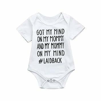 5a7c18819 Goodlock Newborn Kids Fashion Romper Baby Boys Girls Cute Letter Print  Romper Jumpsuit Outfits Clothes (❤️White, 💕Size:6M)